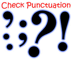 check punctuation
