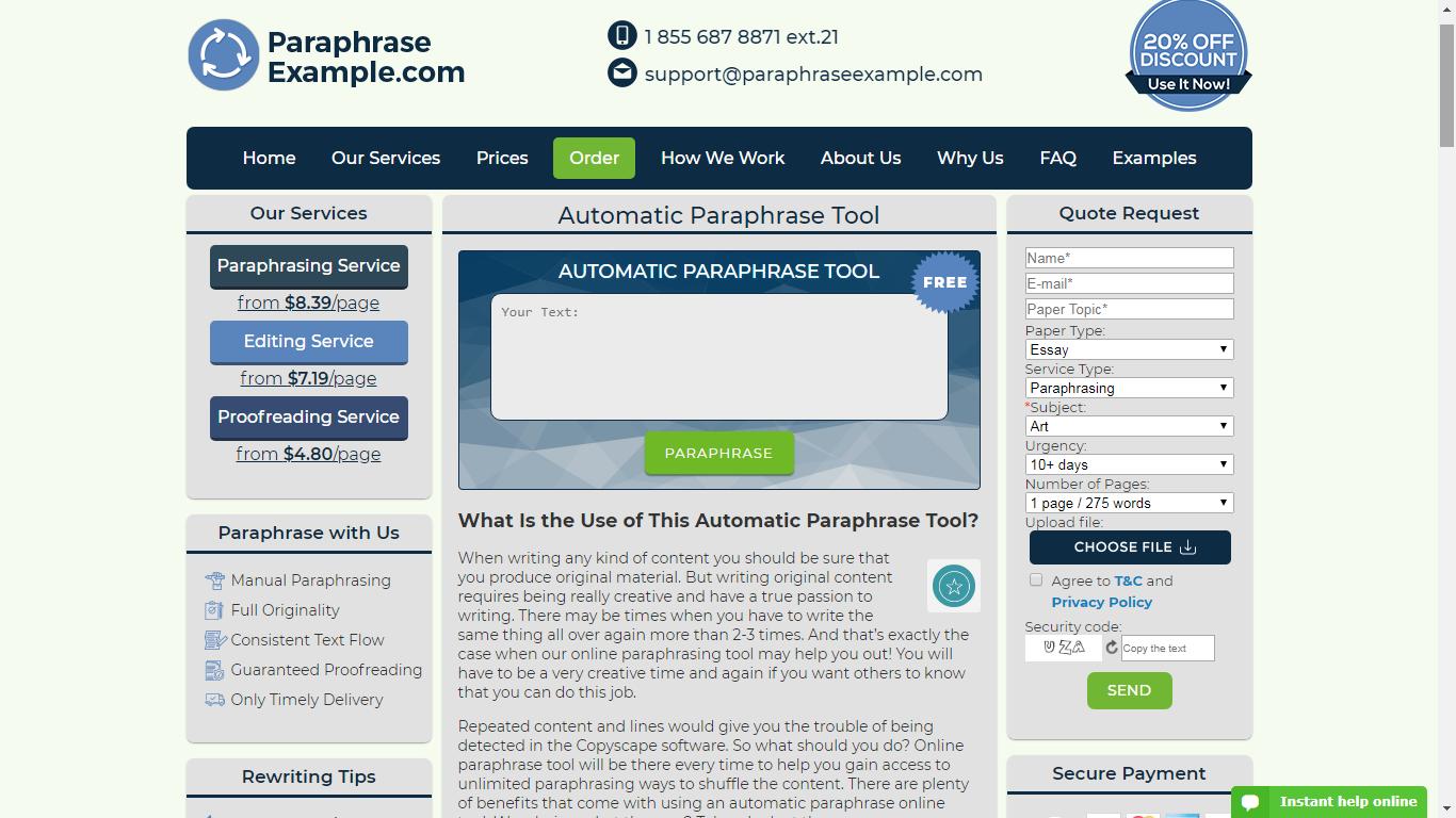paraphraseexample.com review