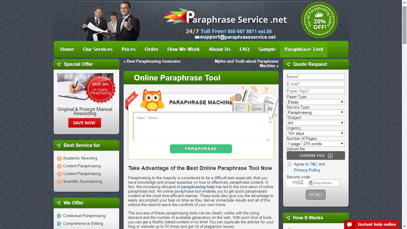 paraphraseservice.net review