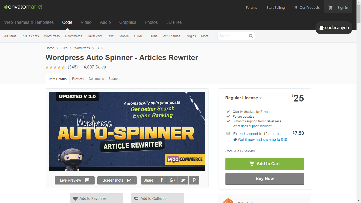 wordpress auto spinner review