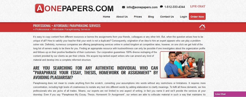 aonepapers.com review