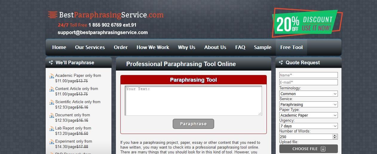bestparaphrasingservice.com review