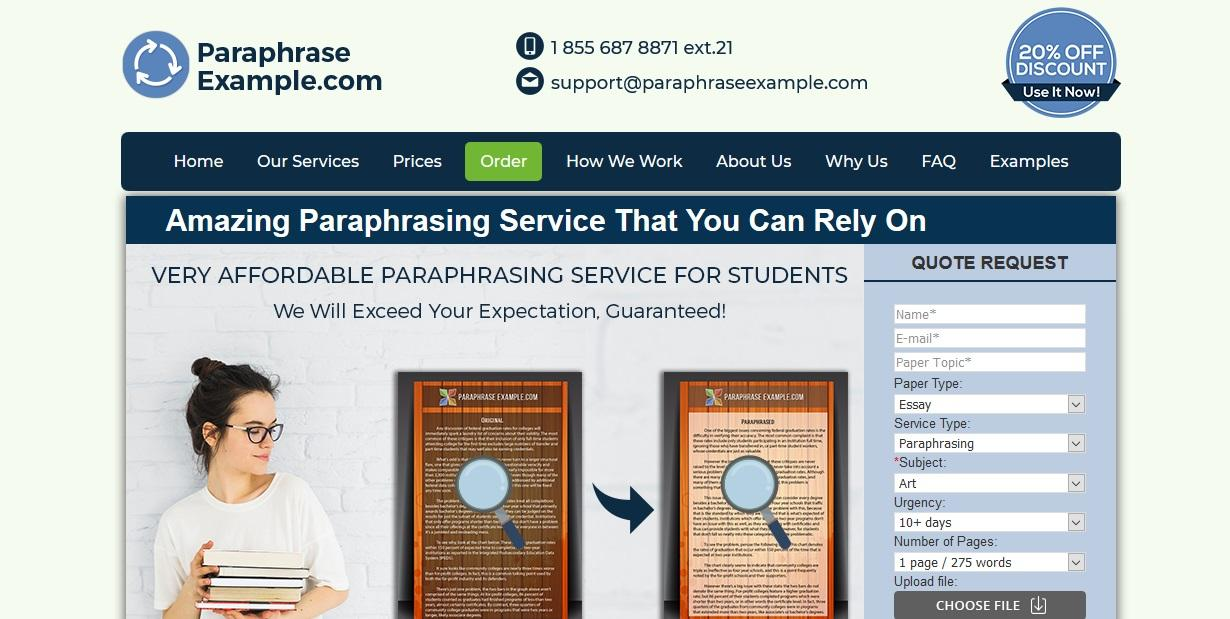 paraphraseexample.com review