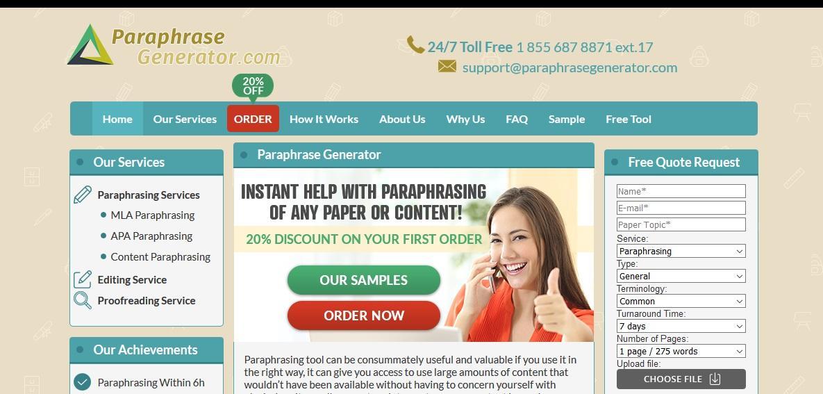paraphrasegenerator.com review
