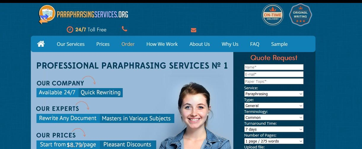paraphrasingservices.org review