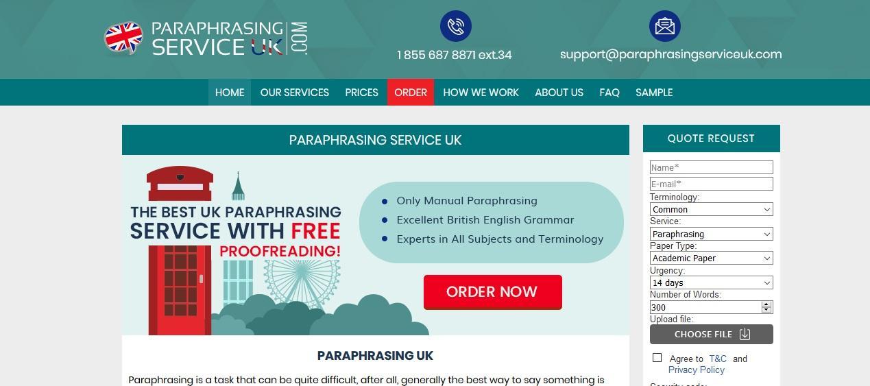 paraphrasingserviceuk.com review
