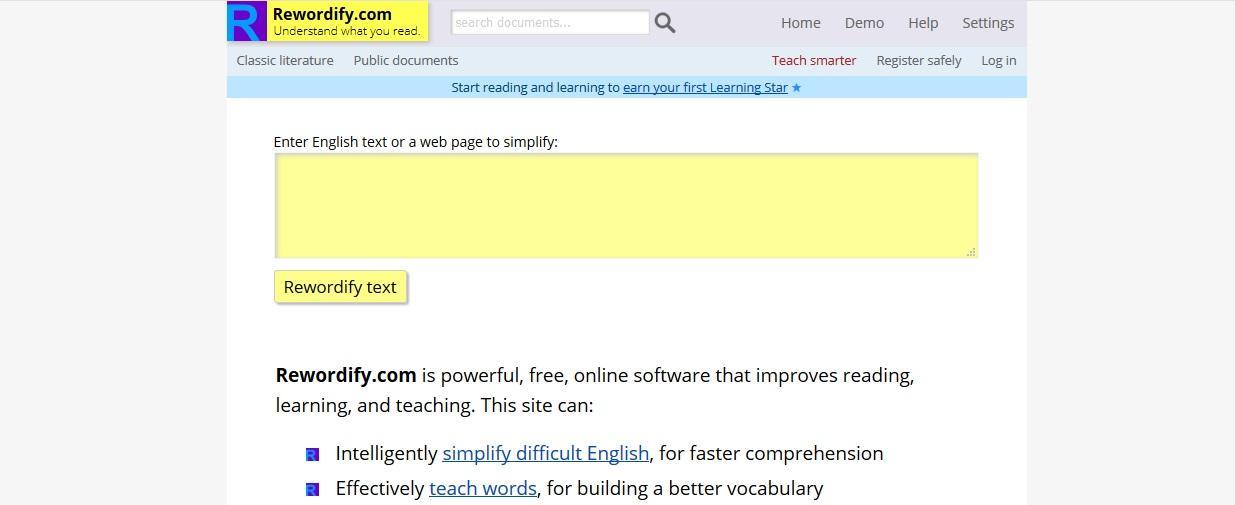 rewordify.com review